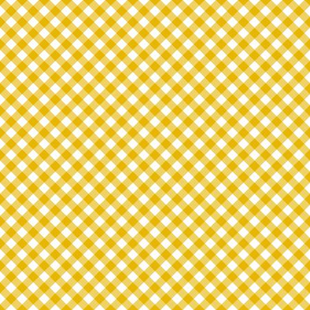 Table cloth seamless pattern yellow Illustration