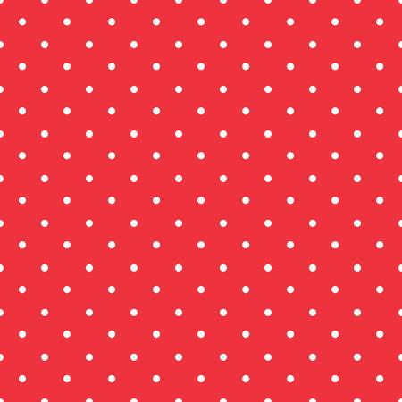 Fondo rojo de la tela de lunares con pequeños puntos blancos patrón transparente Foto de archivo - 29029637