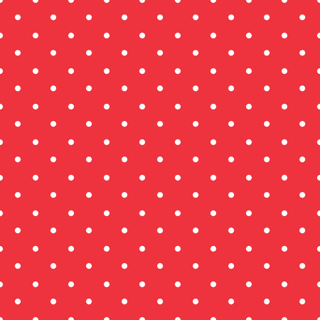 red background polka fabric with white little dots seamless pattern