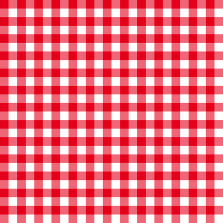 Table cloth seamless pattern red in line  イラスト・ベクター素材