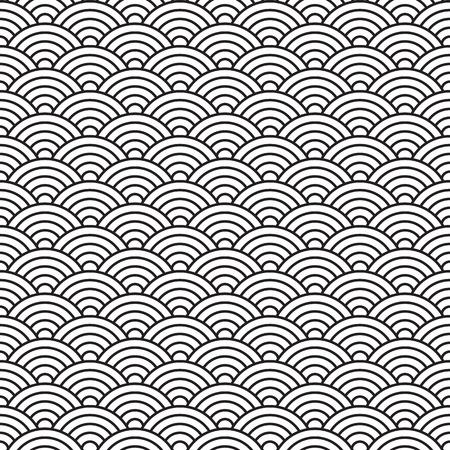 china style seamless pattern Ilustração
