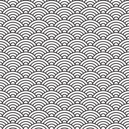 china style seamless pattern Vectores