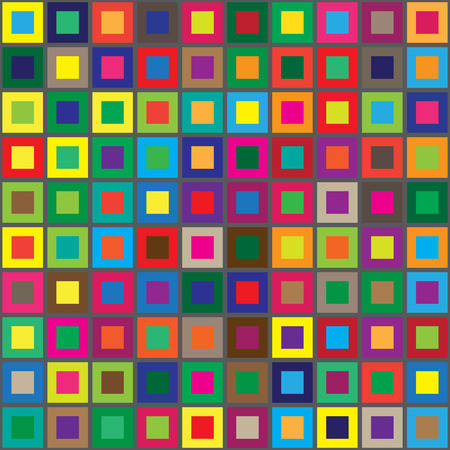 colors squares seamless abstract pattern horizontal background. vector illustration