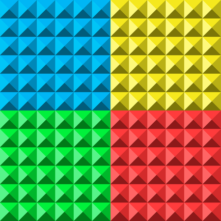 gauze: colors pyramid seamless pattern. vector illustration