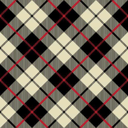 black and beige fabric texture diagonal little pattern seamless vector illustration Stock Illustratie