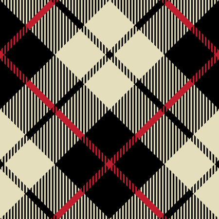 black and beige fabric texture diagonal pattern seamless vector illustration  イラスト・ベクター素材
