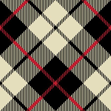 Negro y beige textura de la tela patrón diagonal ilustración vectorial sin fisuras Foto de archivo - 35538093