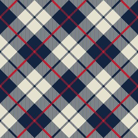 Blau und Beige Gewebebeschaffenheit diagonal kleine Muster nahtlose Vektor-Illustration