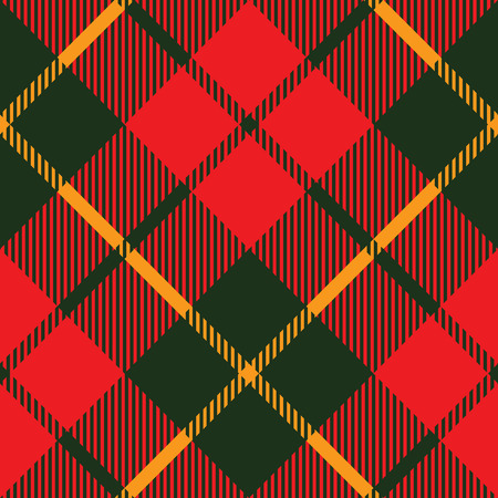 tartan fabric texture diagonal pattern seamless vector illustration Vector