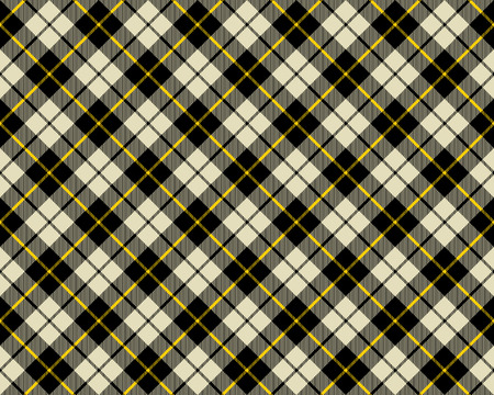 black and beige fabric texture diagonal pattern seamless vector illustration Vector
