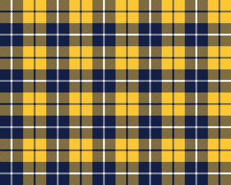 blue orange tartan fabric texture pattern seamless vector illustration Vector