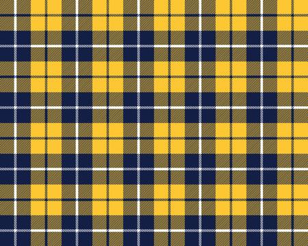 blue orange tartan fabric texture pattern seamless vector illustration Vector