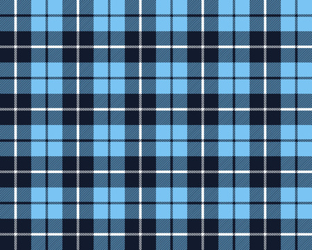 blue tartan fabric texture pattern seamless vector illustration Illustration