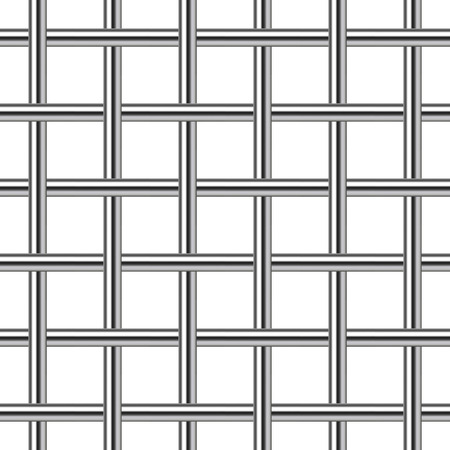 skidding: chrome metal grid seamless background, vector illustration