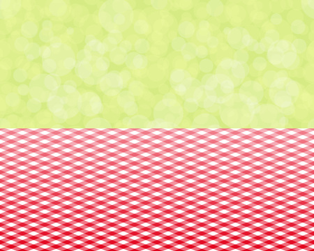 red tablecloth: green background boken and red tablecloth diagonal seamless, vector illustration