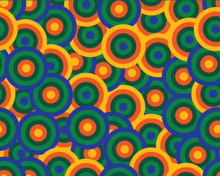 rounds: color rounds seamless pattern, vector illustration