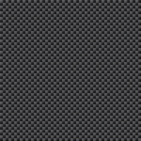 Carbon Fiber Weave Sheet Seamless Pattern, vector illustration