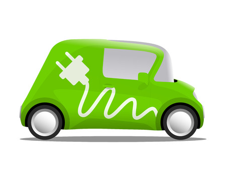 electro: electro car cartoon safe ecology, vector illustration Illustration