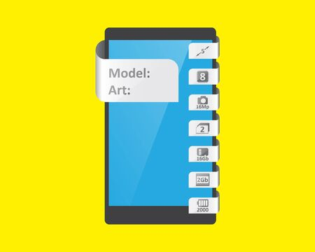 feature: label feature for smartphone, vector illustration