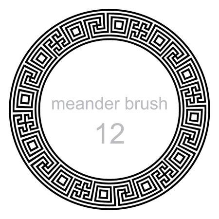 meander: different pattern line ancient meander, vector illustration Illustration