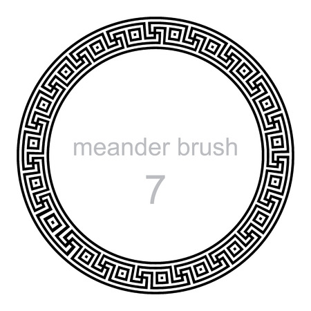 keltische muster: Rahmen runden Ornament M�ander, Vektor-Illustration