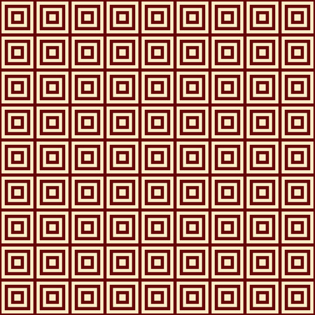 bordo: yellow square on a bordo background endless east pattern, vector illustration