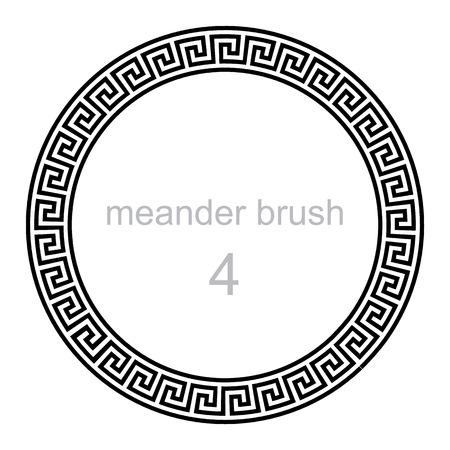 meander: round ornament meander, vector illustration