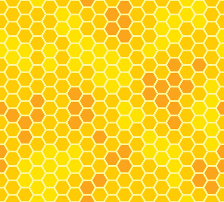 honeycomb with honey seamless pattern vector illustration Vector