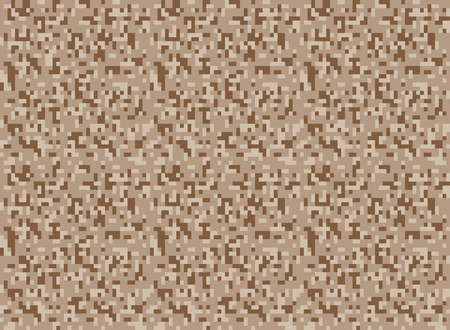 digi: safari camouflage seamless pixel pattern vector illustration Illustration