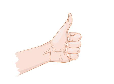 i like: I like thumb up vector illustration