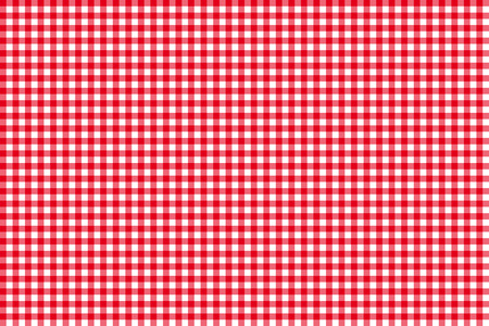 Tablecloth seamless pattern red  illustration Vectores