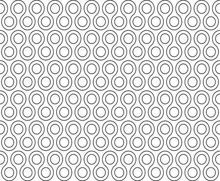 rounds: twist rounds seamless pattern illustration