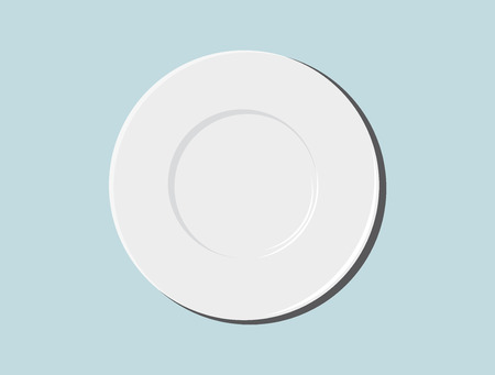 directly: plate vector illustration Illustration