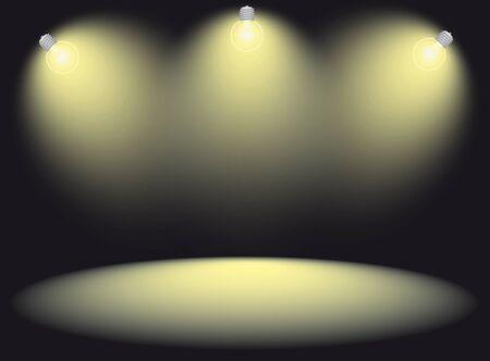 spot lit: spotlight stage vector illustration Illustration