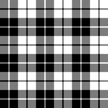 fabric texture seamless pattern black tartan vector illustration