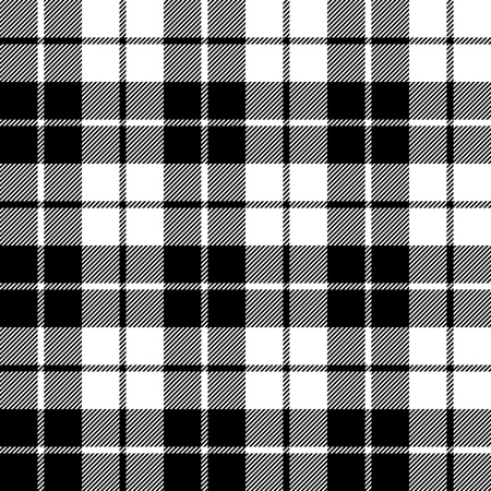 fabric texture seamless pattern black tartan vector illustration