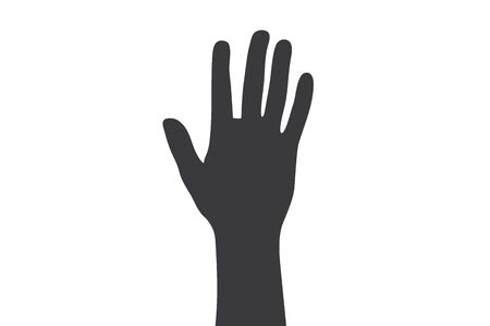 hand silhouette: Greeting Hand Gesture silhouette vector illustration Illustration