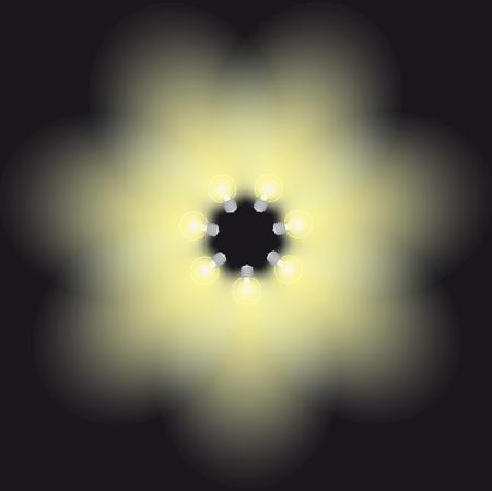 lamp light: lamp light vector illustration