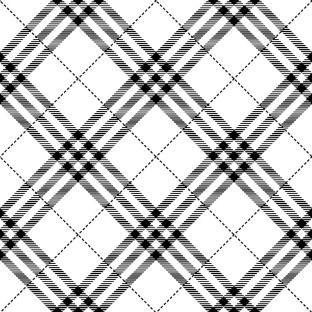 checkered background: fabric texture seamless diagonal pattern vector illustration Illustration