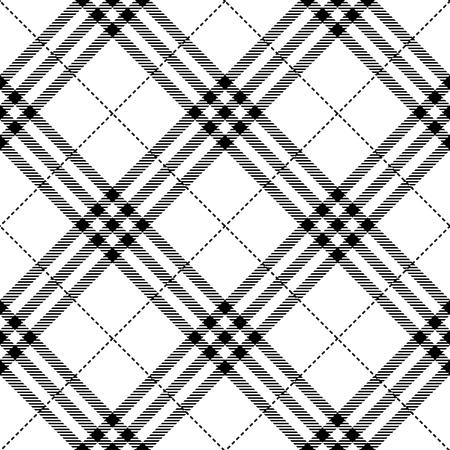 cuadros blanco y negro: textura de la tela patr�n diagonal perfecta ilustraci�n vectorial