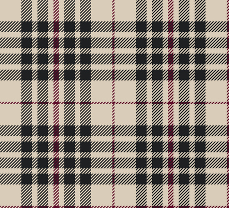 Blackberry tartan seamless vector illustration Ilustrace