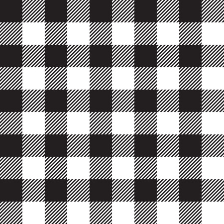 picnic cloth: Black tablecloth seamless pattern. Vector illustration of traditional gingham dining cloth with fabric texture. Checkered picnic cooking tablecloth. Illustration