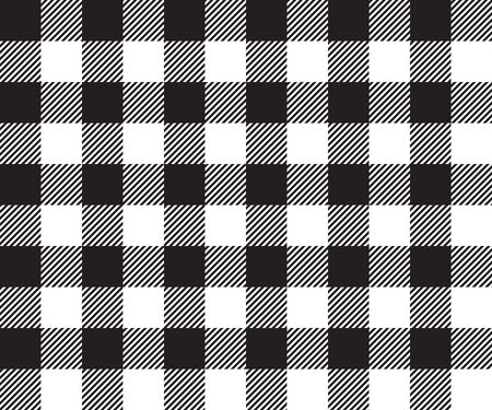 picnic cloth: Black tablecloth background seamless pattern. Vector illustration of traditional gingham dining cloth with fabric texture. Checkered picnic cooking tablecloth.