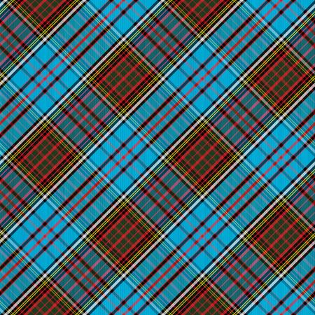 Tartan Clan Anderson diagonal seamless pattern vector illustration Illustration