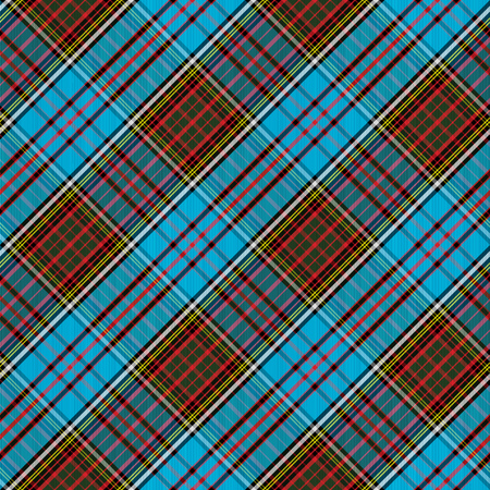 Tartan Clan Anderson diagonal seamless pattern vector illustration Ilustrace