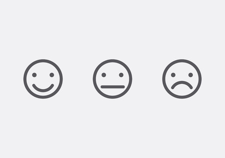 face expressions: Different smiley faces icons vector illustration