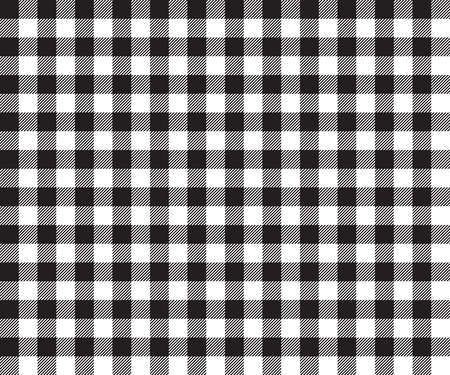 picnic cloth: Black table cloth background seamless pattern. Vector illustration of traditional gingham dining cloth with fabric texture. Checkered picnic cooking tablecloth.