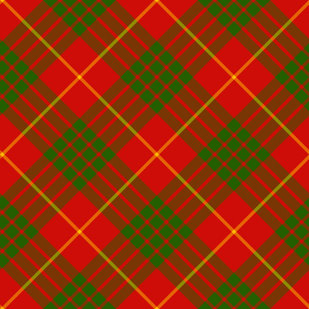 clan: clan cameron tartan diagonal seamless background vector illustration