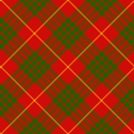 clan: clan cameron tartan diagonal seamless background vector illustration