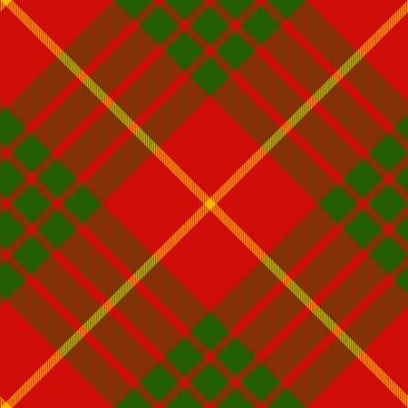 clan: clan cameron tartan diagonal seamless pattern vector illustration